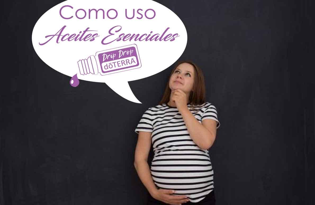 ¿Cómo usar aceites esenciales dōTERRA® durante el embarazo?