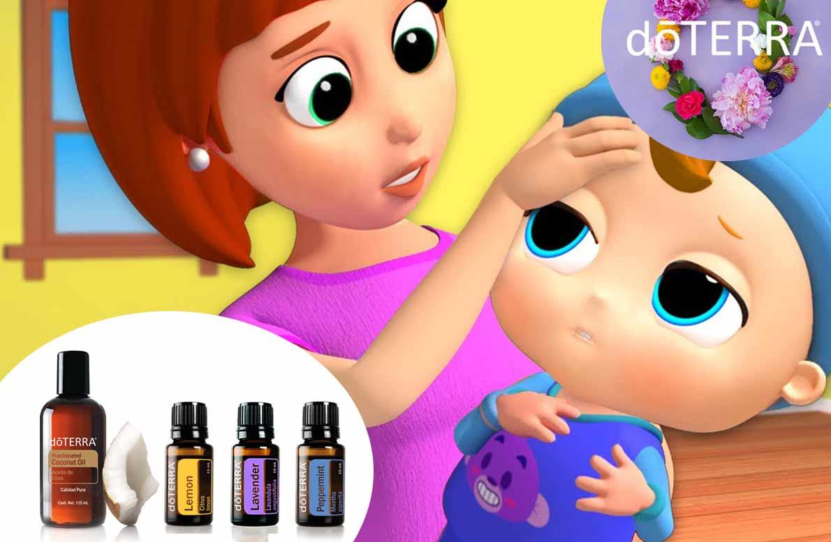 Para aliviar la fiebre de mi bebé y permitir a la fiebre hacer su función, disminuirla a un rango beneficioso y purificar el cuerpo DōTERRA® tiene la solución para lograrlo de manera natural