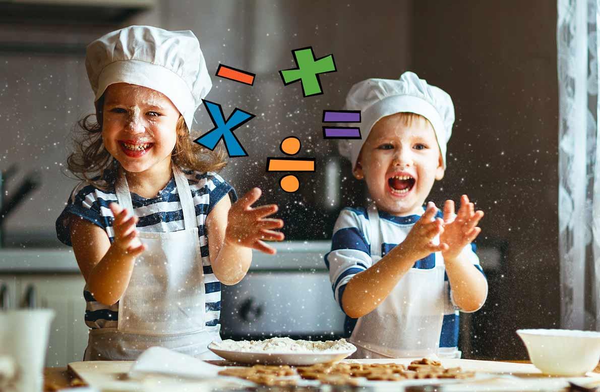 Enséñale fracciones y matemáticas a tu niño con la cocina