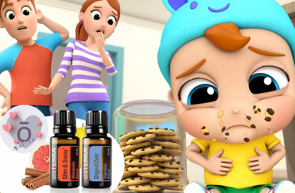 calma el dolor de estómago de bebes y niños con dōTERRA®