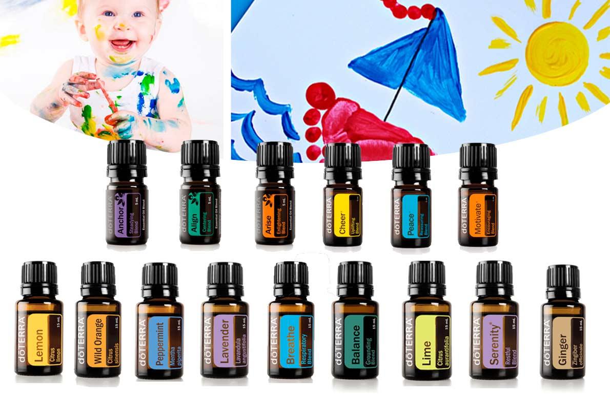 Aceites dōTERRA® para poner en la pintura casera, que tienen múltiples beneficios